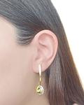 Aros Cristal Austriaco Aurore Boreale Enchapado Oro 18 K