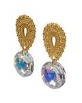Aros Cristal Austriaco Aurore Boreale Colgante Enchapado Oro 18 K