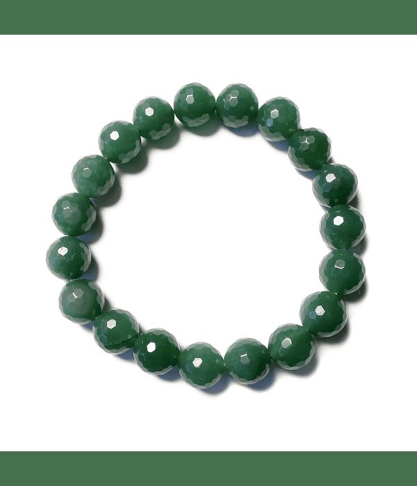 Pulsera Jade Facetado Elasticada