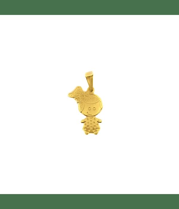 Colgante Niña Enchapado Oro 18 K