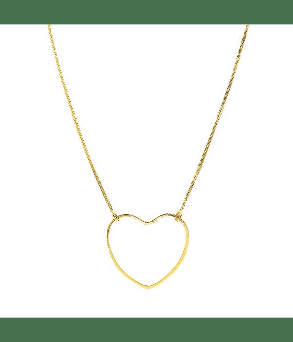 Collar Corazón Enchapado Oro 18 K 44cm