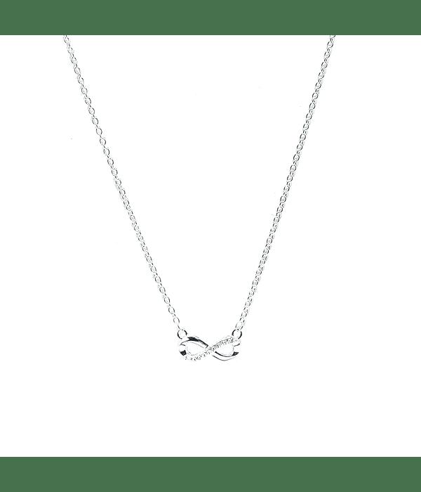 Collar Infinito Circón Plata Fina 925 45cm