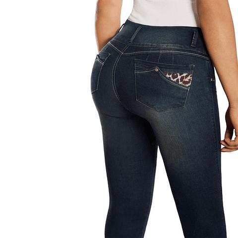 Jeans Colombiano Con Control de Abdomen BP Azul New Rodivan