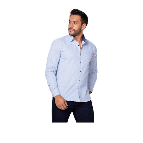 Camisa Casual Colombiana Doby Celeste Daxxys Jeans