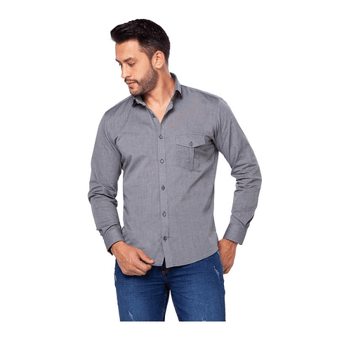 Camisa Casual Colombiana Vasary Gris Daxxys Jeans