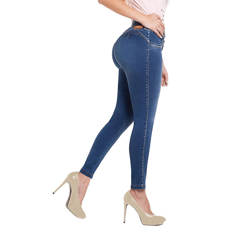 Jeans Colombiano Carola Azul Daxxys Jeans
