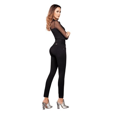 Jeans Colombiano Con Control De Abdomen Cinthya Negro Daxxys