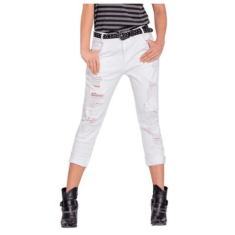 Jeans Colombiano Keit Boyfriend Blanco Autonomy