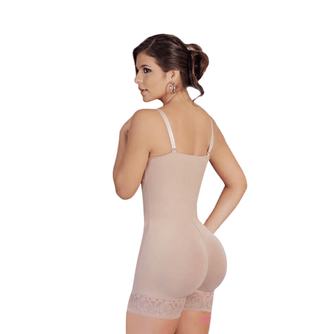 Faja Media Pierna Colombiana  527-3 Beige Salome