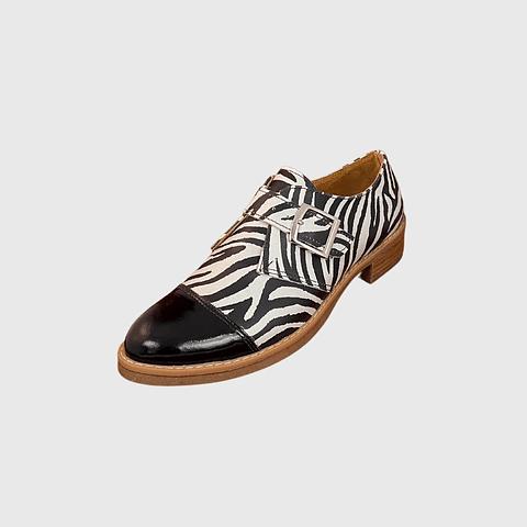 Zapato de Cuero Hebilla Cebra Ángel Jeans