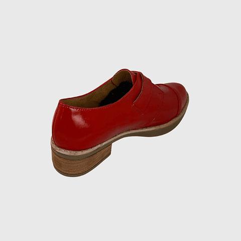 Zapato de Cuero Hebilla Charol Rojo Ángel Jeans