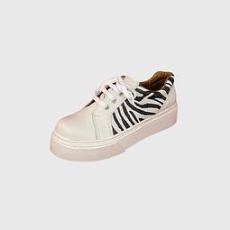 Zapatilla de Cuero Animal Print Blanco Ángel Jeans