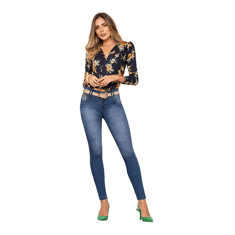 Jeans Colombiano Hairs Azul Daxxys Jeans