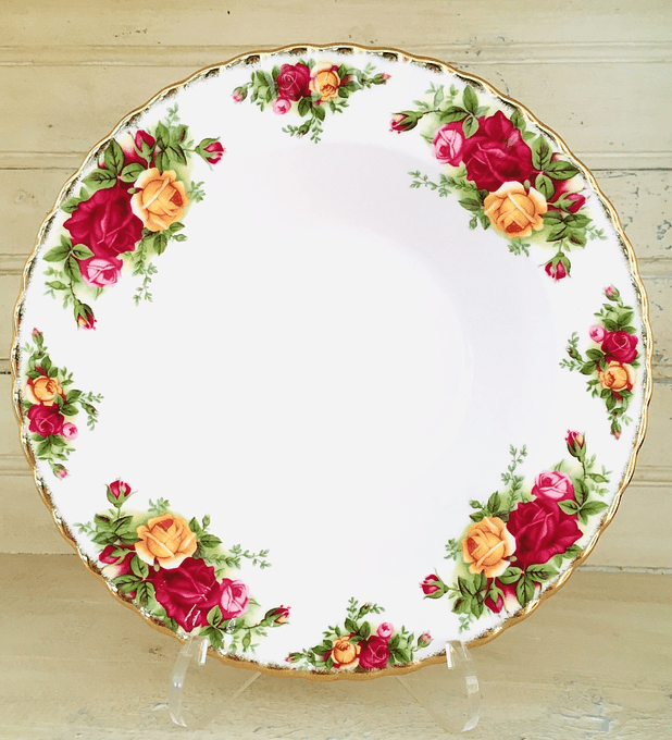 Royal Albert,  'Old Country Roses', plato hondo, 20 cm, desde 1962