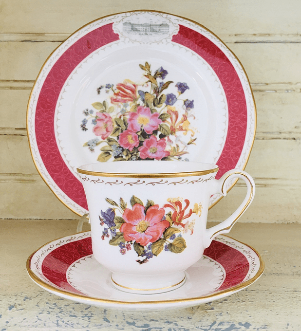 "Franklin Mint, Inglaterra, set de té ""Sweet briar rose"", 1991"