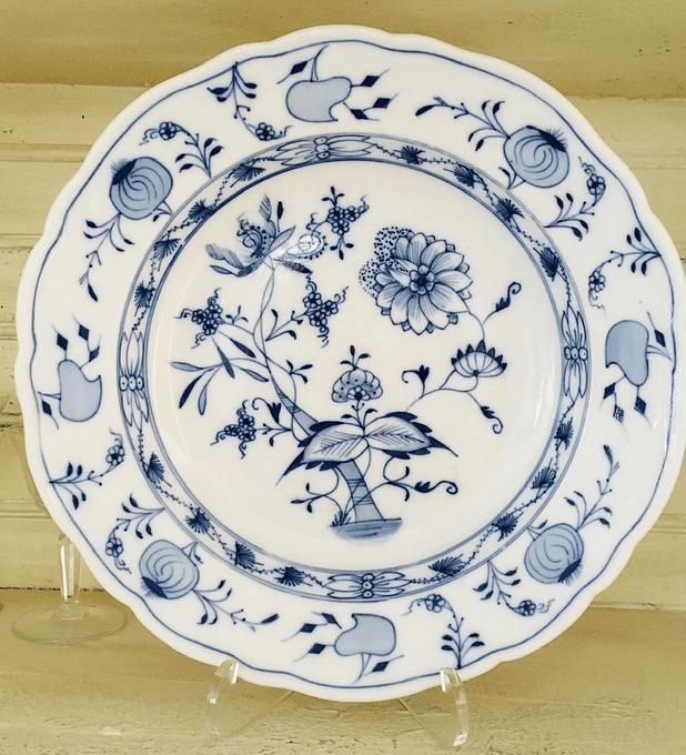 Carl Teichert, Meissen, Alemania, plato patrón cebolla, 1882 - 1929