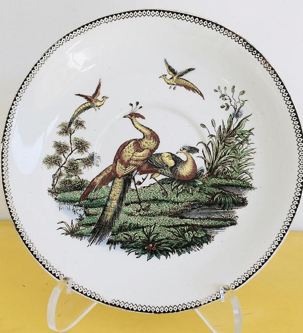 Wedgwood, Inglaterra, 'pavos reales', 1840 -1845