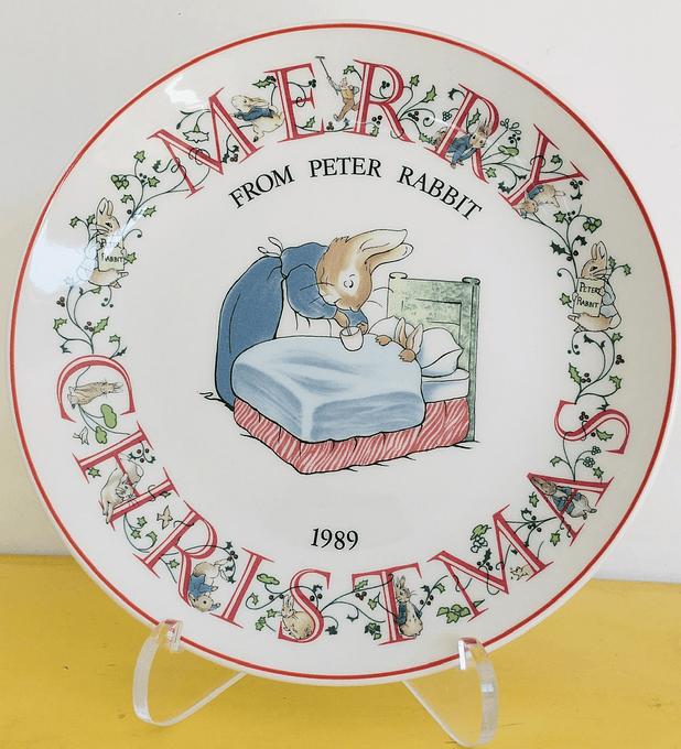 Wedgwood, Inglaterra, Peter Rabbit, 'Feliz Navidad', 1989