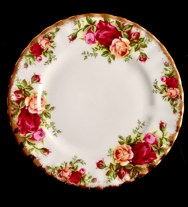 Royal Albert, Inglaterra, 'Old Country Roses', plato de torta/pan 16 cms, desde 1962