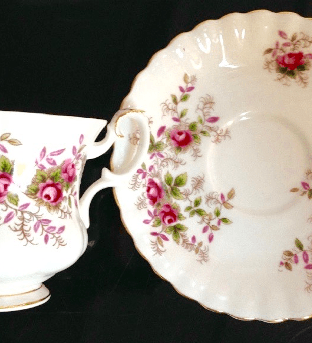 Royal Albert, Inglaterra,' Lavender Rose', taza de café, 1961- 2009