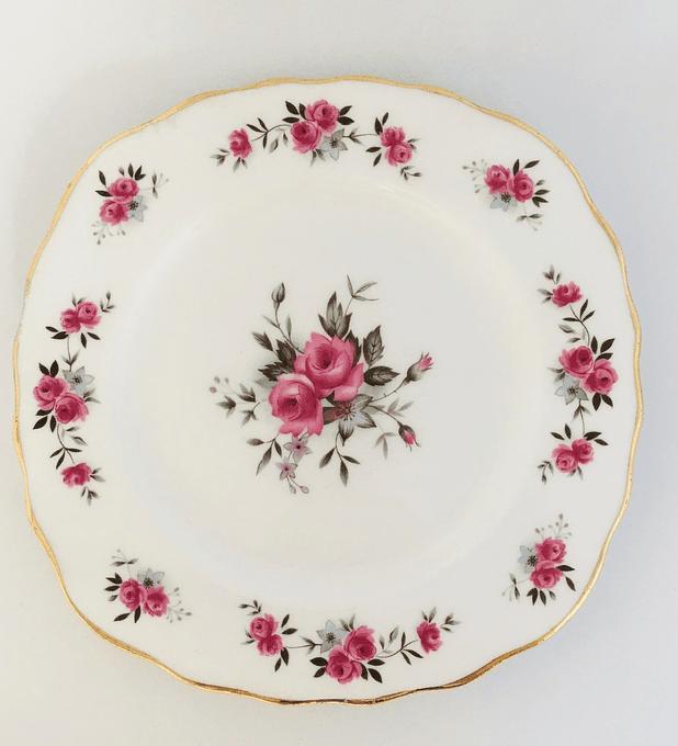 Royal Vale, Inglaterra, plato de torta, 15,6 cm, 1955 - 1964