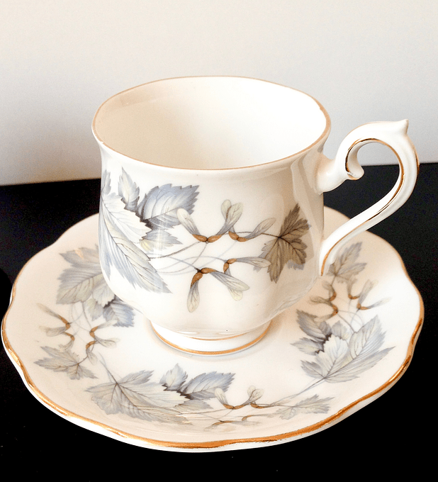 Royal Albert, 'Silver Maple', Inglaterra, 100cc, taza de café, 1959 - 1984