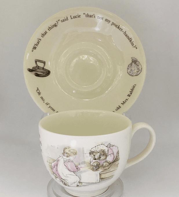 Wedgwood, Inglaterra, taza de colección Mrs. Tiggy-Winkle