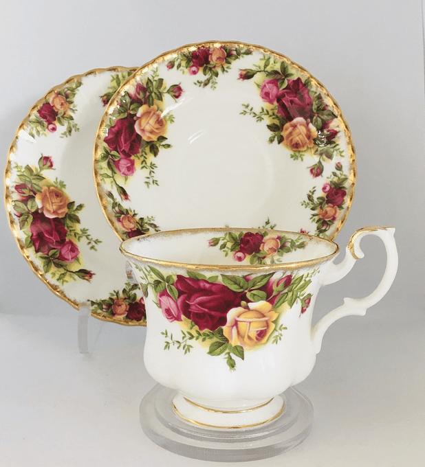 Royal Albert, Inglaterra, 'Old Country Roses', set de té, desde 1962
