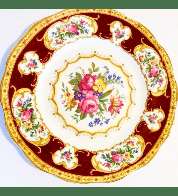 Royal Albert, Inglaterra, 'Lady Hamilton', plato de desayuno 21 cms, 1939 - 2001