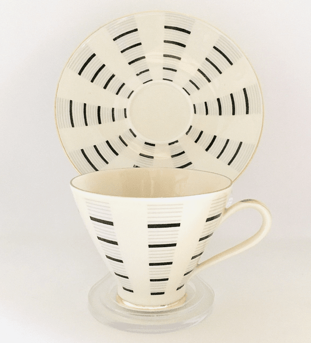Mitterteich, Bavaria, Alemania, tazas de café, 1960's - 1970's