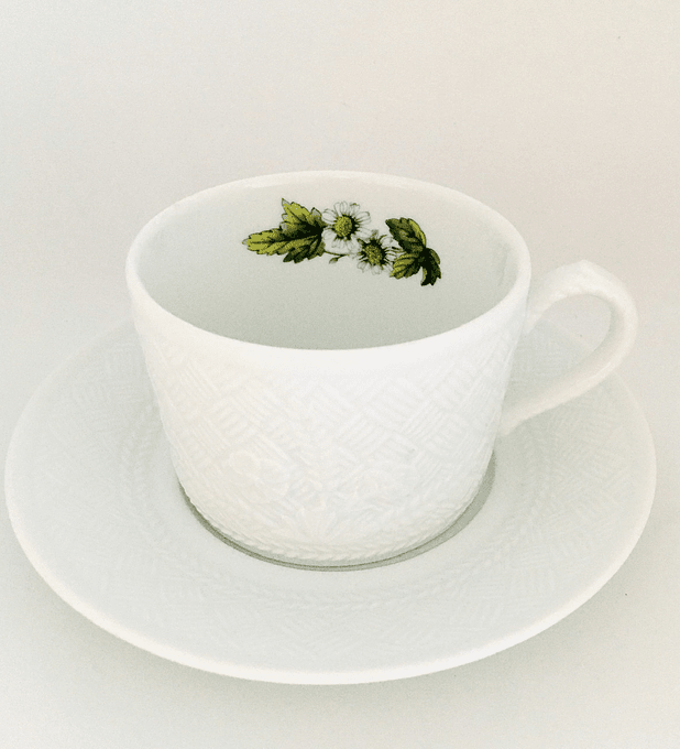 "Royal Worcester, Inglaterra, ""Pepper mint"", taza de té, 1980's"