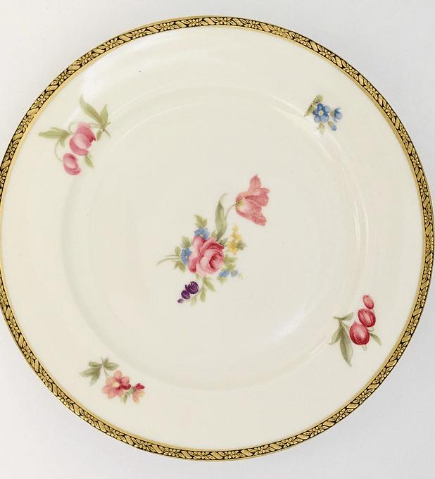 Eschenbach, Bavaria, Alemania, 'Elfenbein', plato de torta/pan, 17,2 cm, 1930 -1945