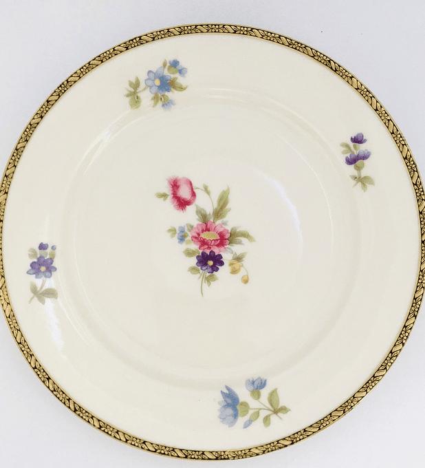 Eschenbach, Bavaria, Alemania, 'Elfenbein', plato de torta/pan, 17,2 cm, 1935 -1950