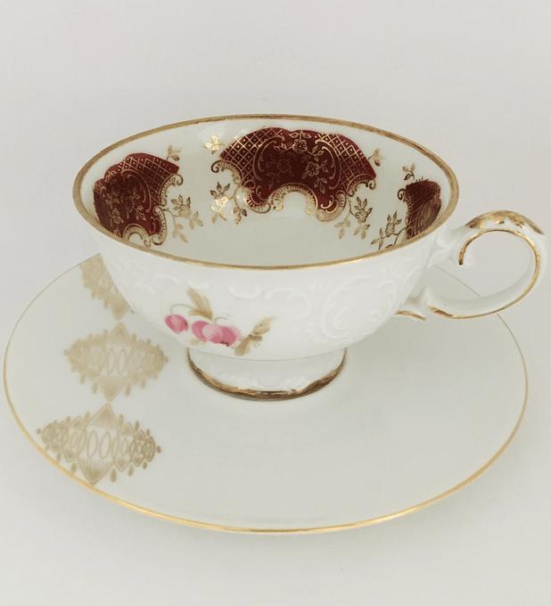 Mismatch Zeh Scherzer & Winterling, Bavaria, Alemania, taza de té, 1950's