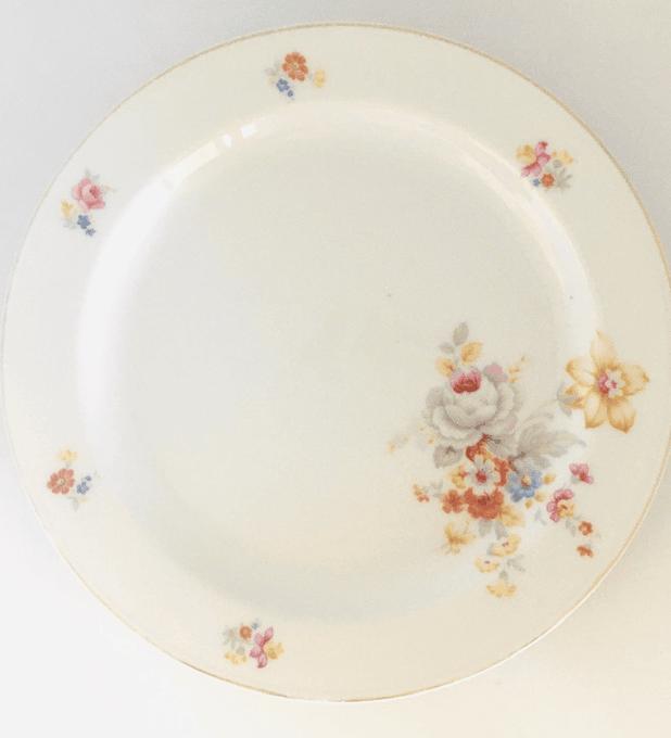 Porzellanmanufaktur Arzberg, Bavaria, Alemania, plato de torta/pan 18,4 cm, 1930's