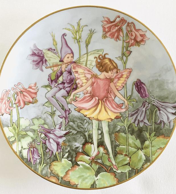 Villeroy & Boch, Alemania,  plato de colección,  'The Columbine fairy' (El hada de la flor Columbina), 2002