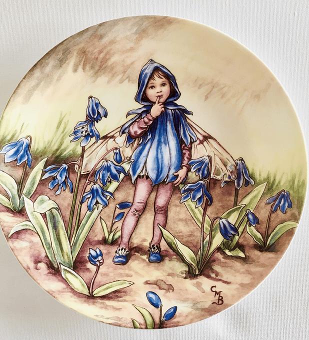 Wedgwood, Inglaterra plato de colección,  'The Scilla fairy' (El hada de la flor Scilla), 1994