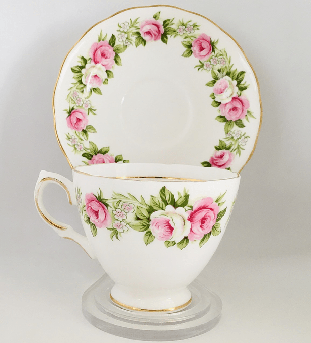 Colclough, Inglaterra, taza de té para zurdos, 1960's