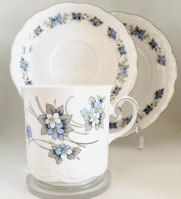 Mitterteich, Bavaria, Alemania, trio de té, 1970's