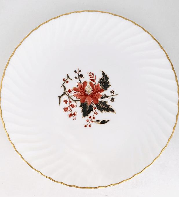 "Royal Worcester, Inglaterra, "" Lynbrook"", plato 20,5 cm"