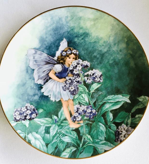Villeroy & Boch, Alemania, 'The Heliotrope fairy' (El hada de la flor heliotropo),  plato de colección numerado, 2002