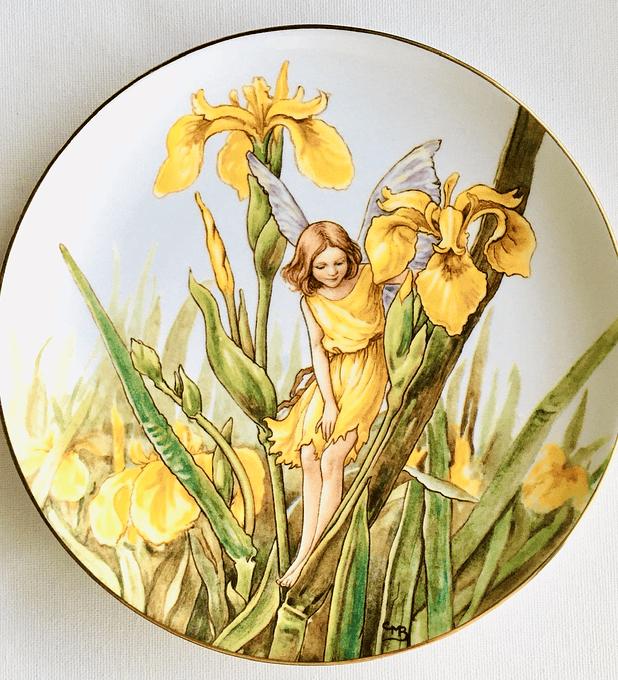 Border, Inglaterra, 'The Iris Fairy' (El hada del Iris ),  plato de colección numerado, 1987