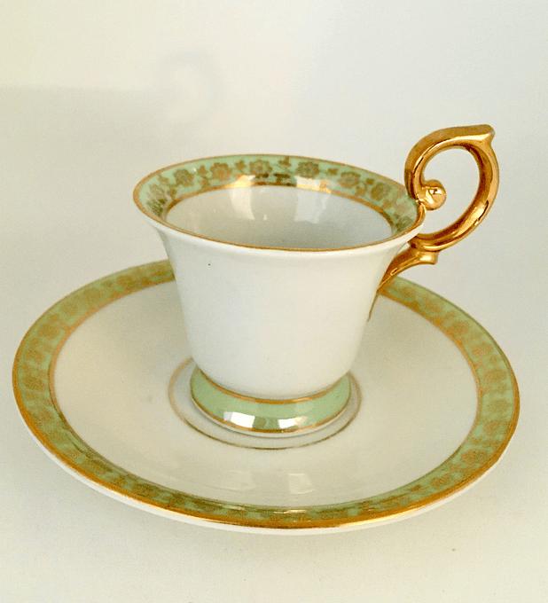 Porzellanfabrik Friedrich Eger & Co. K.G. , Turingia, Alemania, taza de moka/espresso, 1901 - 1914