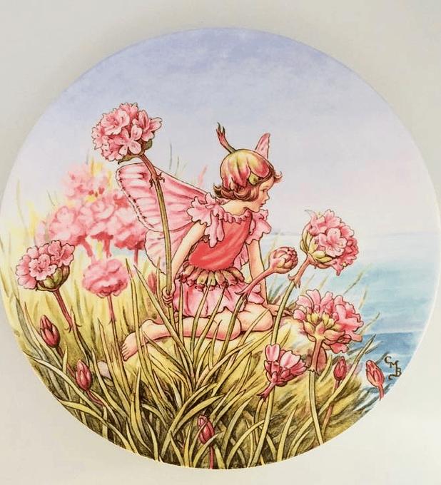 Gresham, Inglaterra, 'The thrift fairy' (El hada de la armeria marítima), 1994, plato numerado y con certificado