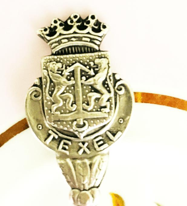 Cuchara de colección, 'Texel', bañada en plata, Holanda
