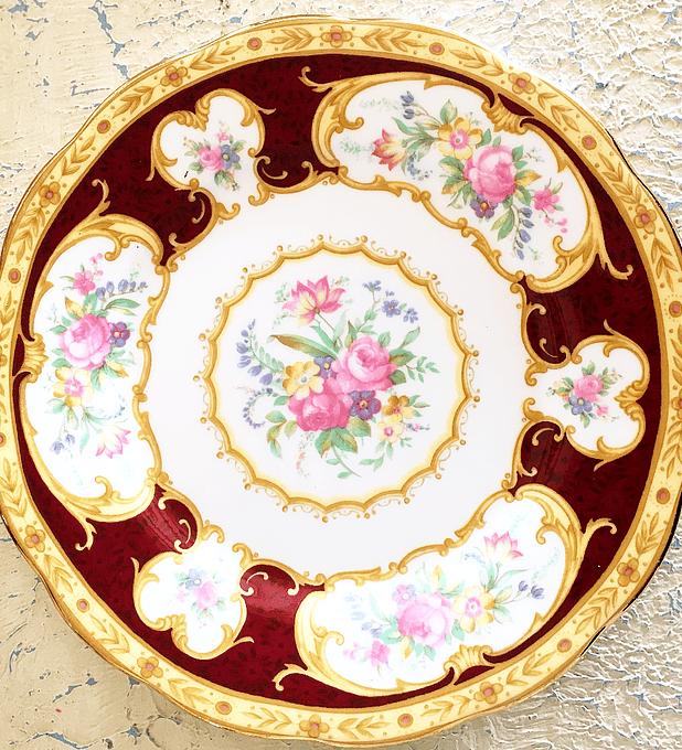 Royal Albert, Inglatera, 'Lady Hamilton', plato torta 16 cm, 1939 - 2001