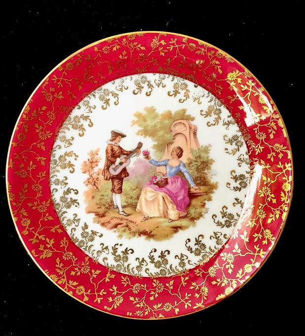 Horst Kuba, Bavaria, Alemania, platos de torta, 17 cm, oro de 22 quilates, 1972 - 1989