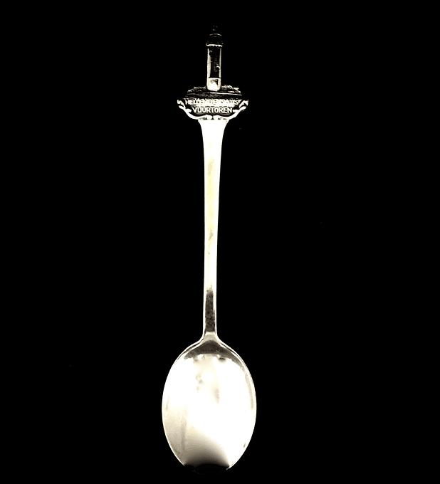 Gero, Holanda, 'Vuurtoren van Hellevoetsluis', cuchara de colección emplatada