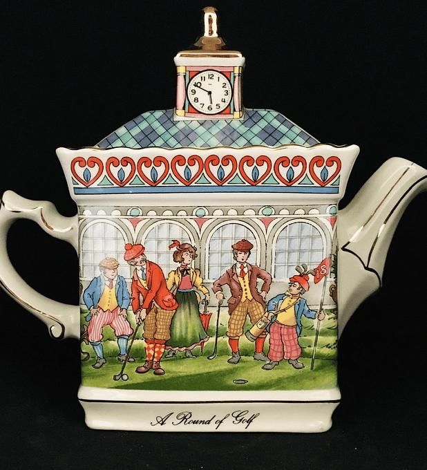 James Sadler, Inglaterra, tetera de colección, 'Championship', ' A round of golf'