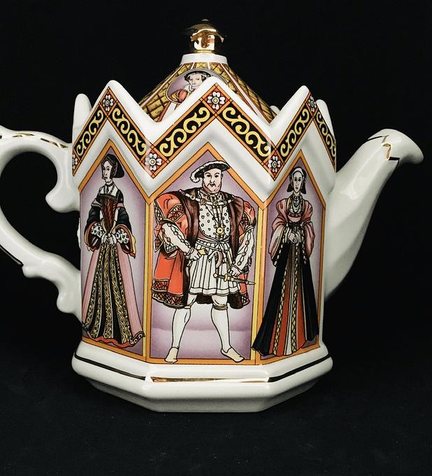 James Sadler, Inglaterra, tetera de colección, Enrique VIII y sus esposas